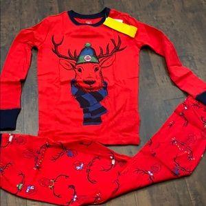 NWT Gap Kids reindeer size 12 pajama set